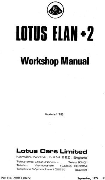 lotus elan 2 workshop manual. Black Bedroom Furniture Sets. Home Design Ideas