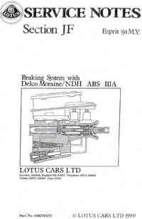 Lotus Esprit Service Notes Section JF
