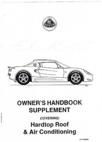Elise Owners Handbook Supplement